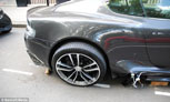 London Thieves Try And Steal Aston Martin DBS Wheels, Fail Miserably