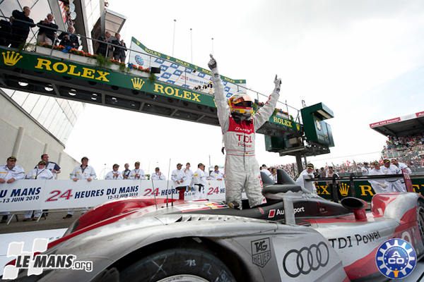 audi sweeps the podium at the 2010 24 hours of le mans news. Black Bedroom Furniture Sets. Home Design Ideas
