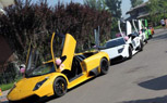 Chinese Wedding Party Convoy Includes a Dozen Lamborghinis
