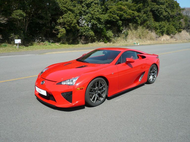 Lexus Lfa Supercar Spotted In Red Autoguide Com News