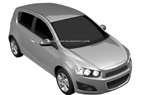 2012 Chevy Aveo Hatchback and Sedan Revealed in Leaked Patent Drawings