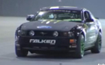 Pro Drifter Vaughn Gittin Jr. Thrashes Falken Monster Mustang in Oversized Skate Park