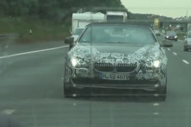 next gen bmw 6 series convertible spied in high speed autobahn chase news. Black Bedroom Furniture Sets. Home Design Ideas