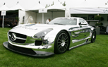 Chrome Mercedes-Benz SLS AMG GT3 Flashes its Goods at The Quail – Monterey 2010