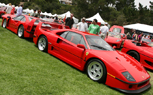 Ferrari F40 Reunion at Concorso Italiano Celebrates Minimalism in Numbers