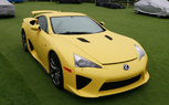 Yellow Lexus LFA Unveiled on the Concept Lawn at Pebble Beach