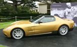 Ferrari P540 Superfast Aperta Debuts at Pebble Beach Concours in Glimmering Gold