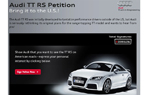 Audi TT RS Being Reconsidered for U.S.; Getting it Here is Up to You