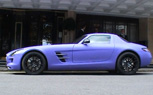 Matte Purple Mercedes-Benz SLS AMG Spotted [video]