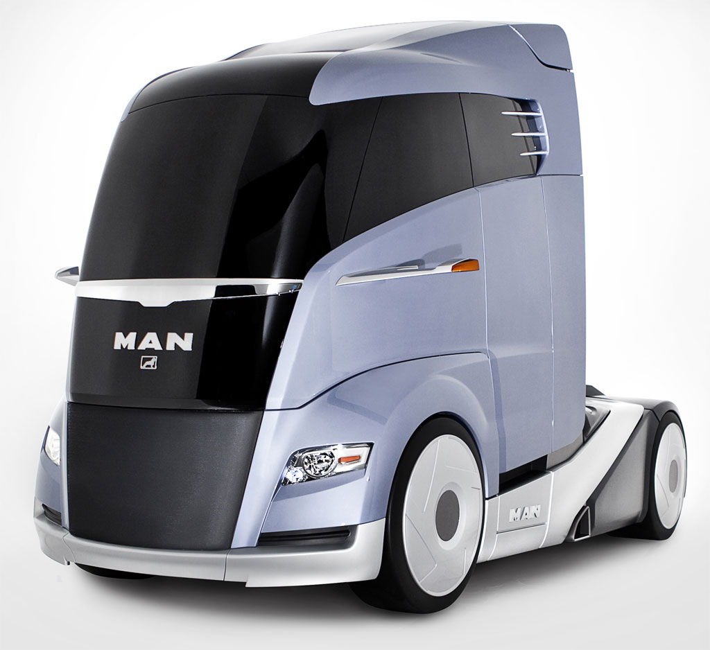 MAN Concept S Adds Aerodynamics To Big Rig Cab; Looks Like