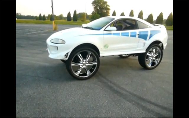 Donked Out Mitsubishi Eclipse On 28s Is A World S First