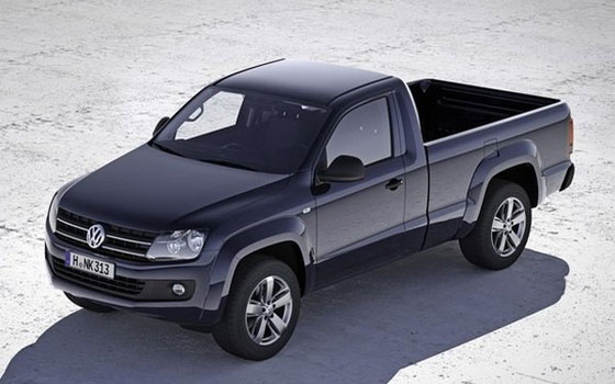 regular cab vw amarok pickup revealed news. Black Bedroom Furniture Sets. Home Design Ideas