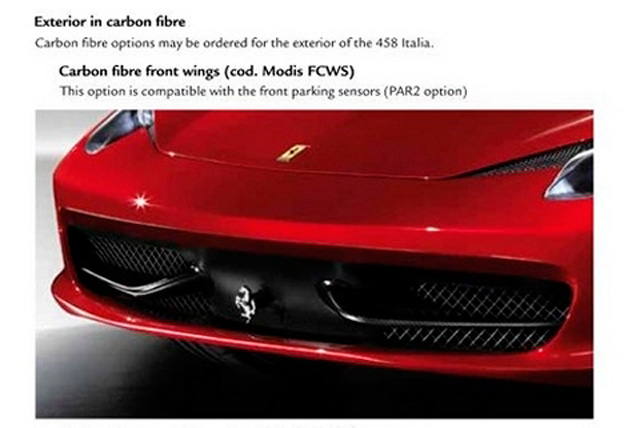 Ferrari 458 Italia Gets New Carbon Fiber Accessories » AutoGuide.com News