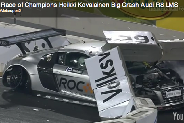 Formula 1 Pilot Heikki Kovalainen Crashed His Audi R8 LMS Race Car At The  Race Of Champions Event Over The Weekend U2013 How Embarrassing. To Make It  Worse, ...