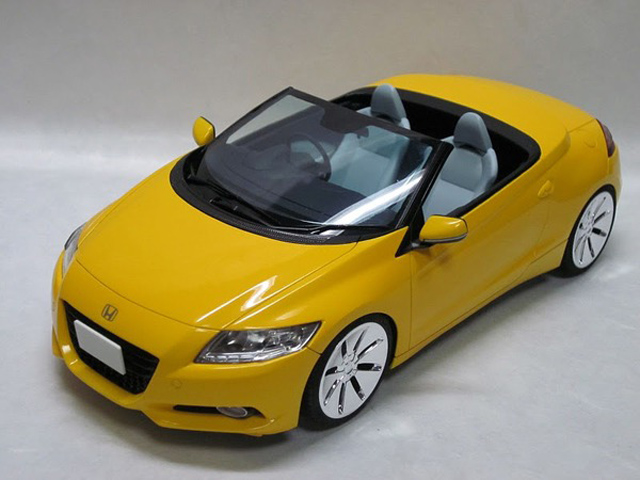 Honda Cr Z Convertible Revealed In Diecast Form