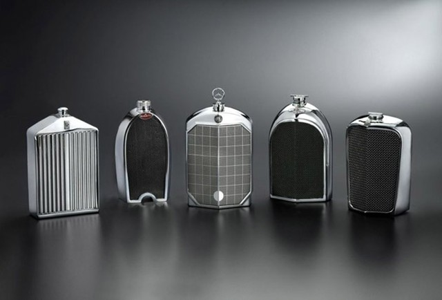 Best Ev Cars >> Designer Flasks Styled After Classic Car Grilles » AutoGuide.com News