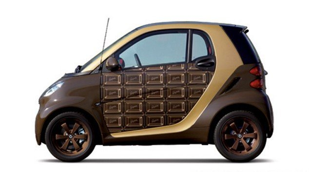 Chocolate Themed Smart Car Makes Sweet Valentines Day