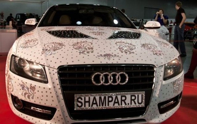 Swarovski Studded Audi Blinds Us With Its Bling