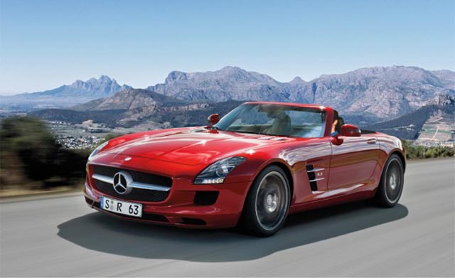 Mercedes Benz Revealed The 2012 SLS AMG Soft Top Roadster A Few Days Ago,  And This 563 Hp Sportscar Demands A High Price. Available Later This Year,  ...