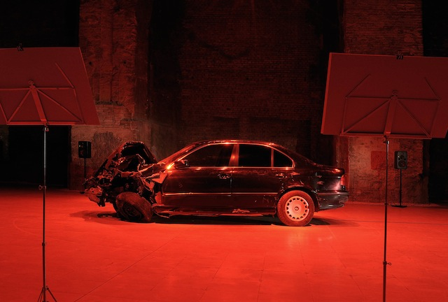 Wrecked Bmw Stars In Experimental Hungarian Opera