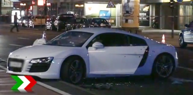 Audi R8 Shot 37 Times By Police In Germany Driver Lives Autoguide