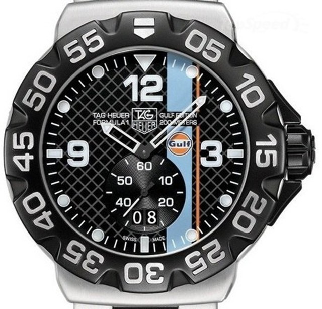 Used Car Loan >> Your Engine Will Rev For Tag Heuer's Formula 1 Gulf Edition Watch » AutoGuide.com News