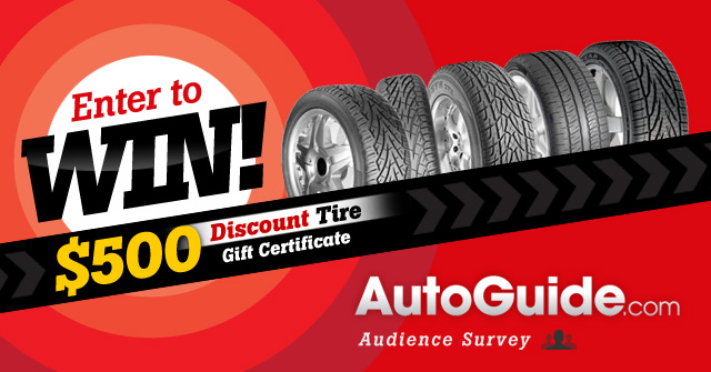 Win a $500 Discount Tire Gift Card for Completing the AutoGuide ...