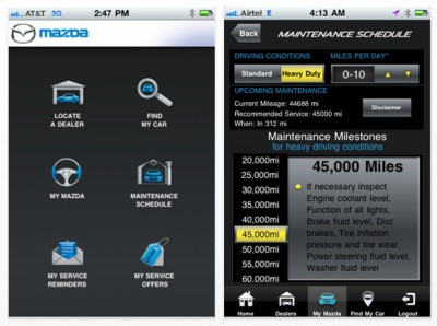 an iphone you ll want to download the all new mymazda iphone app this