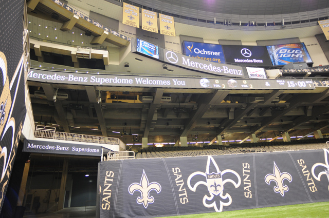 Mercedes benz superdome is the new home of new orelans for Mercedes benz of new orleans used cars