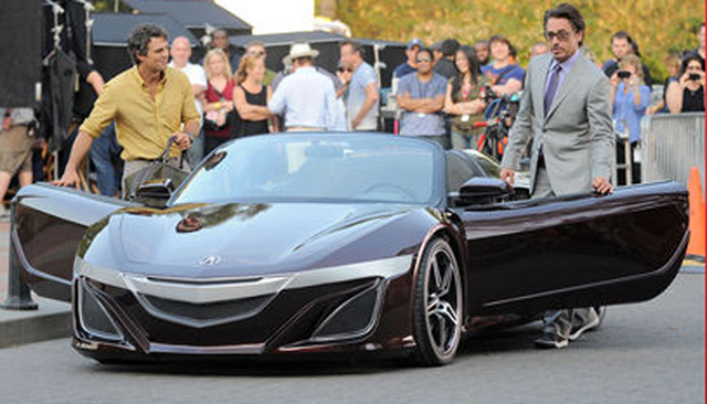 Exceptional Spy Photos Taken At The Set Of The Upcoming Avengers Movie Is Providing Us  With A Glimpse Of A Future Acura Sports Car, Driven By Robert Downey Junior  Who ...