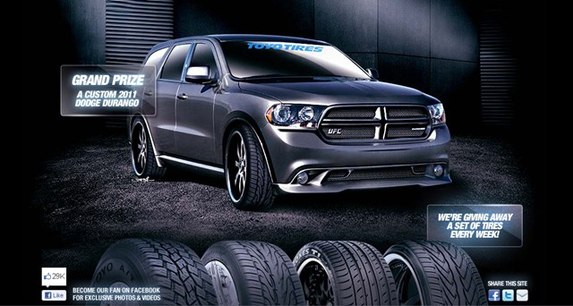 Win A Set Of Tires Or A Dodge Durango In The Toyo Tires