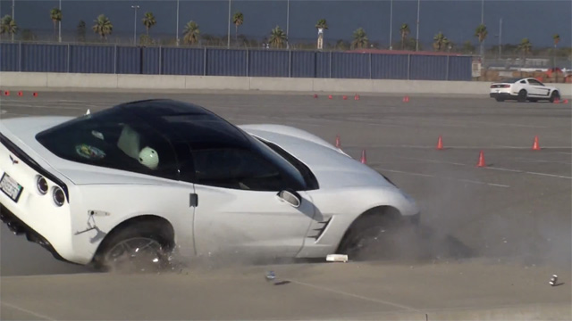 Chevy Corvette Kisses The Curb At An Autocross Event