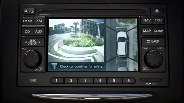 2012 Nissan Rogue Shows Off Innovative Around View Monitor
