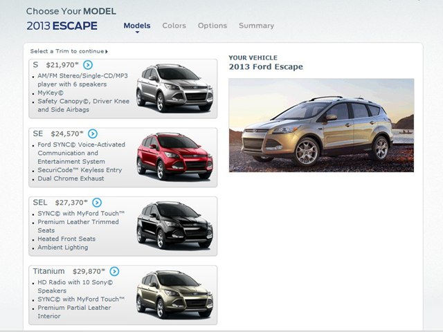 2013 ford escape first pricing details released news. Black Bedroom Furniture Sets. Home Design Ideas