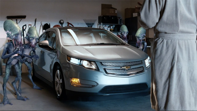 Chevy Volt Super Bowl Commercial Is Out Of This World Strange Video