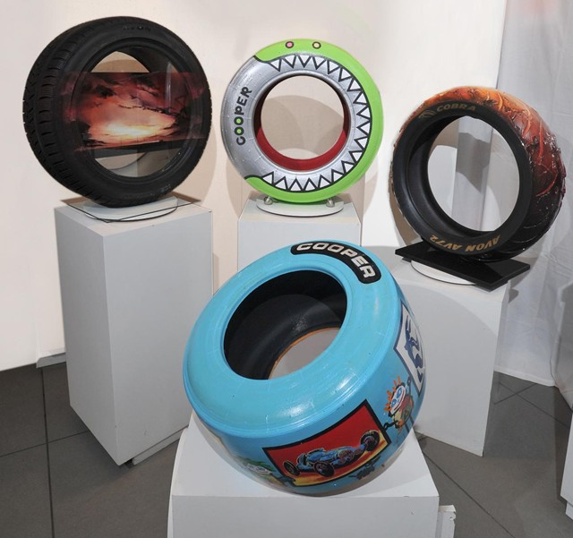 British Artists Transform Tires Into Works Of Art