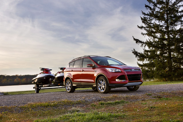 2013 ford escape gets best in class towing in obscure. Black Bedroom Furniture Sets. Home Design Ideas