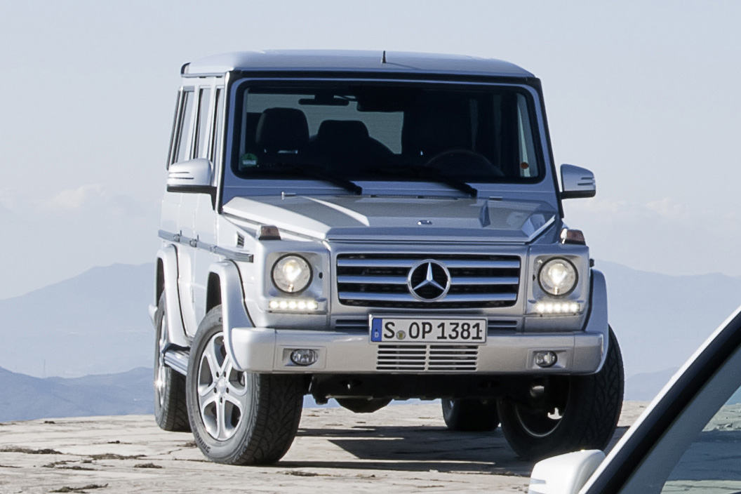 2013 g class spotted in 2013 glk press photos autoguide for Mercedes benz jeep g class