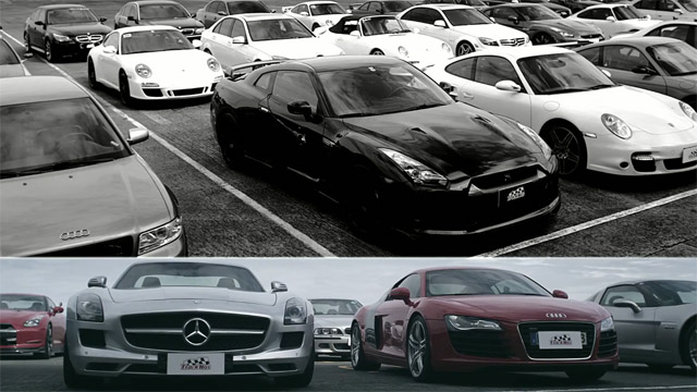 Trackhos mile video shows epic luxury and exotic gathering for Used cars airport motor mile