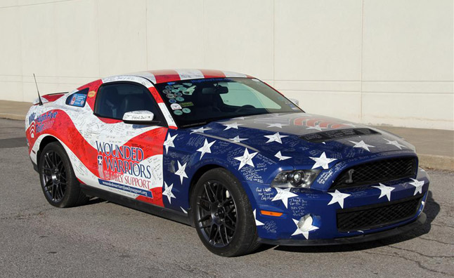 Barrett-Jackson auction, a Shelby GT500 decked out in American flag ...