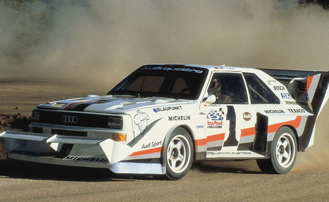 walter rohrl and audi sport quattro s1 return to pikes. Black Bedroom Furniture Sets. Home Design Ideas