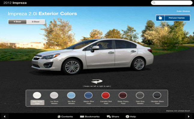 Subaru IPad App Offers Customized Virtual Car Tours
