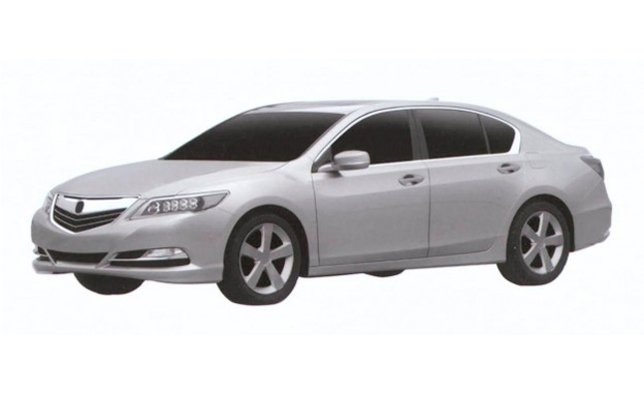 2013 acura rlx revealed in patent images news. Black Bedroom Furniture Sets. Home Design Ideas
