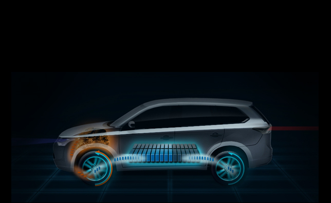 mitsubishi outlander plug in hybrid announced for paris. Black Bedroom Furniture Sets. Home Design Ideas