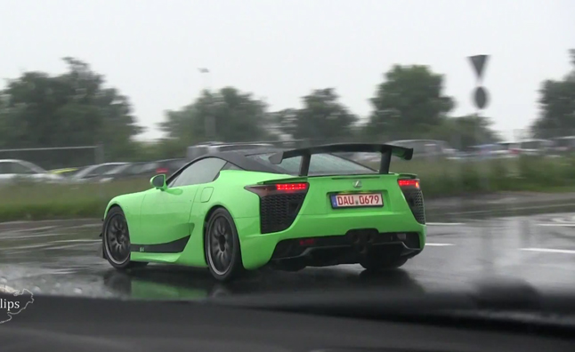 Lexus Lfa Ad B Bright Green Model Revealed In Video
