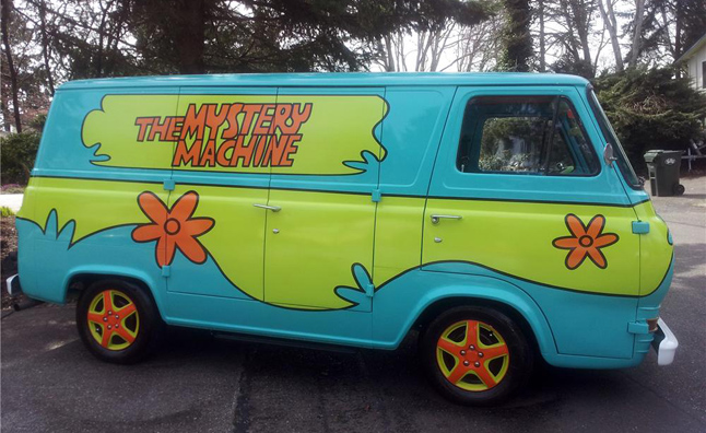 Scooby Doo Mystery Machine Van http://www.autoguide.com/auto-news/2012/09/mystery-machine-van-headed-for-barrett-jackson.html