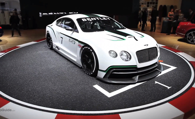 Bentley Continental Gt3 Race Car First Look 2012 Paris