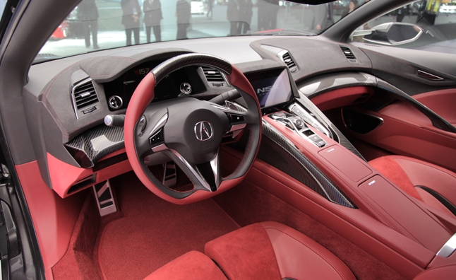 acura nsx interior revealed at 2013 detroit auto show news. Black Bedroom Furniture Sets. Home Design Ideas
