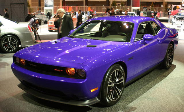 dodge will offer the 2013 challenger with two heritage colors plum