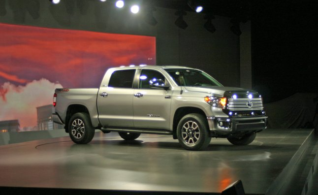 2007 and today, Toyota brought its new 2014 Tundra to the same event